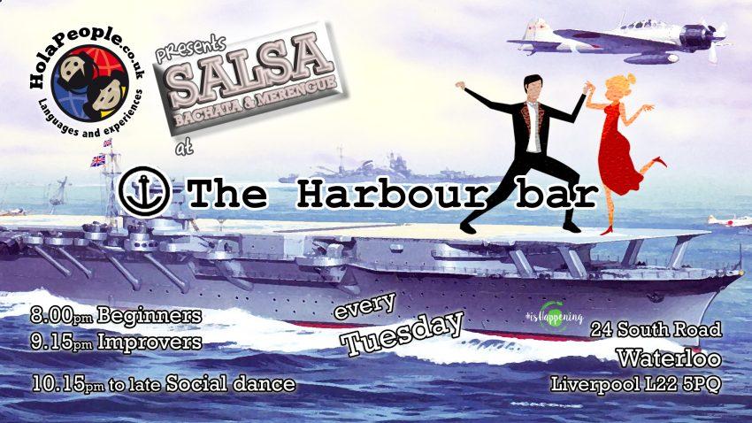 Salsa at The Harbour bar on Tuesdays