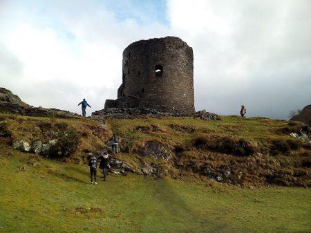 Llanberis Castle in Dolbadarn Wales