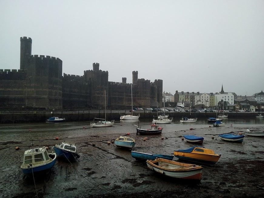 castle of Caernarfon in Wales