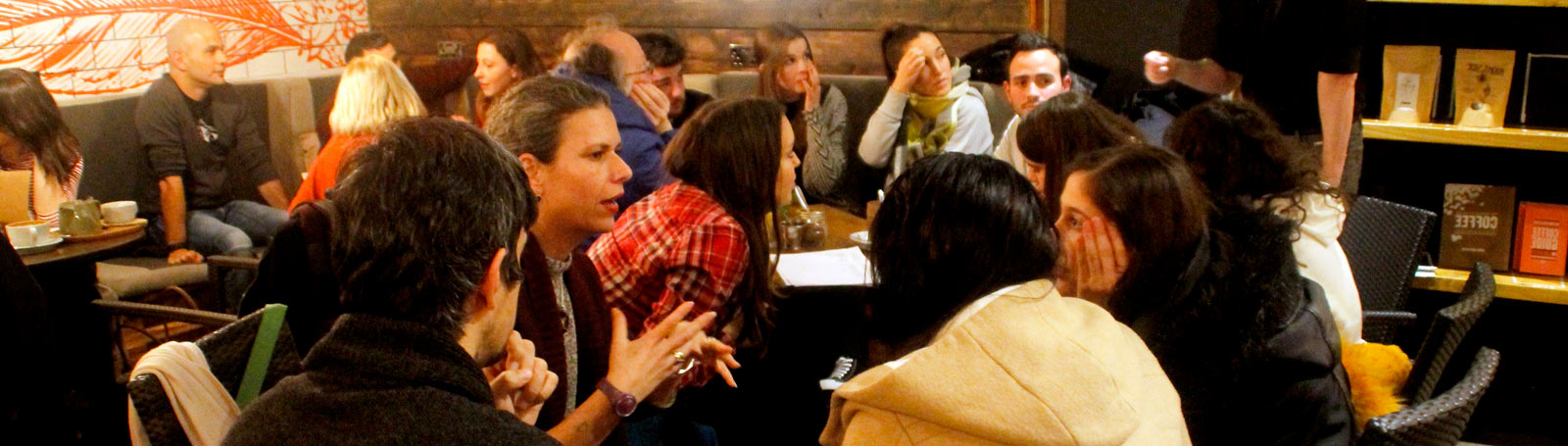 Social language conversation classes in bars and cafes of Liverpool, UK