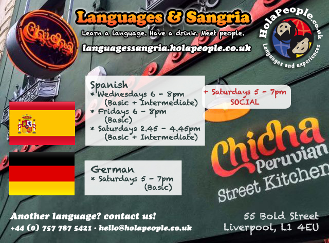 Languages & Sangria at Chicha Resturant, 55 Bold Street
