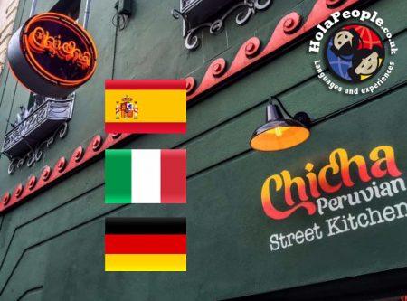 Spanish / Italian / German & Sangria at Chicha Restaurant