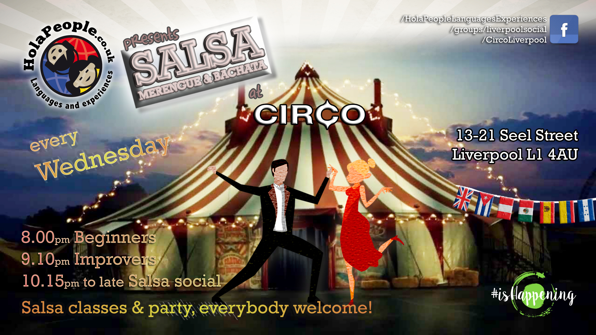 Salsa classes Liverpool Circo, Seel Street