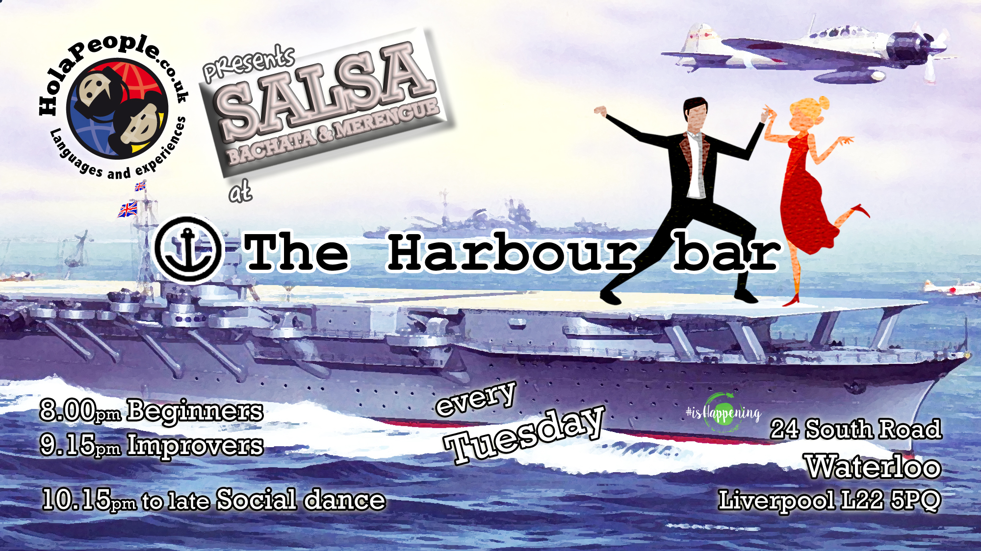 Salsa at The Harbour bar on Tuesdays