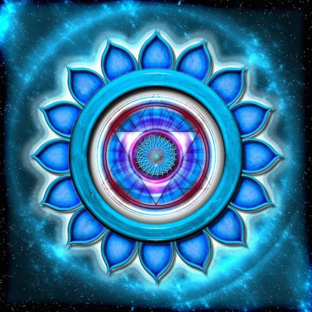 Chakra, one of the seven centres of energy in the human body