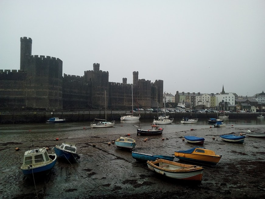 castle of Caernarfon in Wales