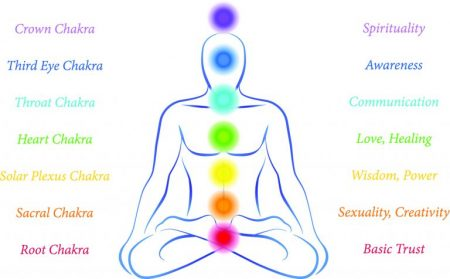 Chakra means 'wheel' in Sanskrit