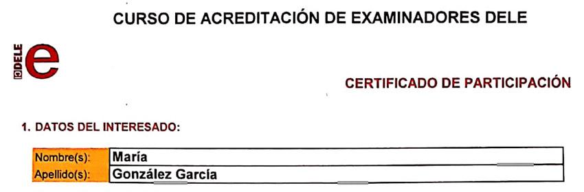 DELE accreditation certificate