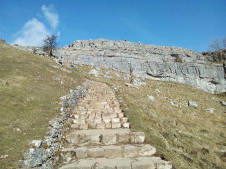 Malham cove stairs