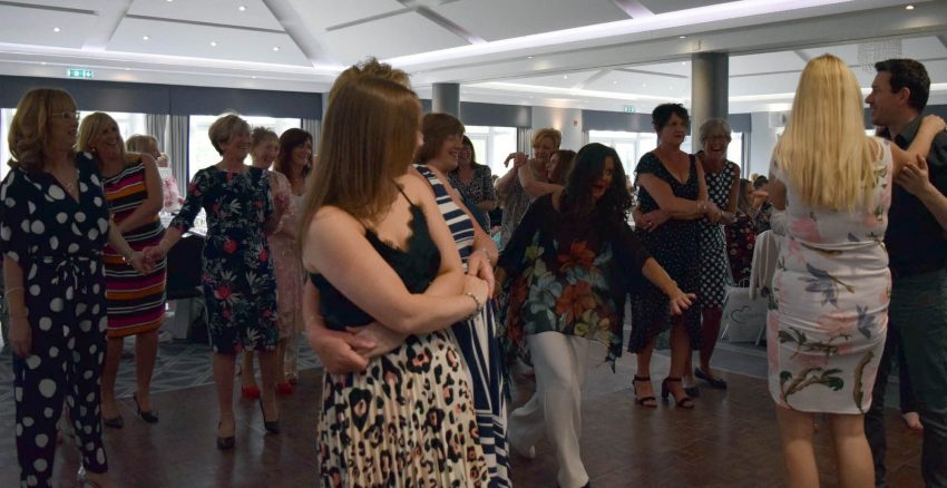 Salsa class at Ladies day - charity event